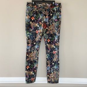 Pilcro and the Letterpress Floral Skinny Jeans